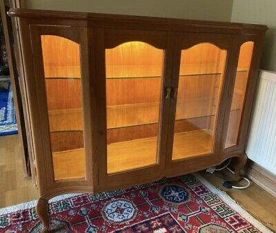 Teak Display Cabinet, Illuminated. • 45£