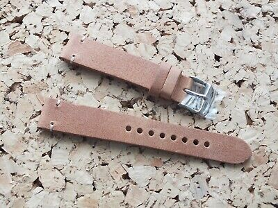 Genuine Leather Quick Release Watch Strap 20mm Weathered Tan By Geckota • 3.99£