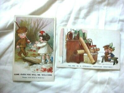2 X ANTIQUE COMIC POSTCARD. BY INTER-ART-Co SERIES. ARTIST FRED SPURGIN.  • 11.99£