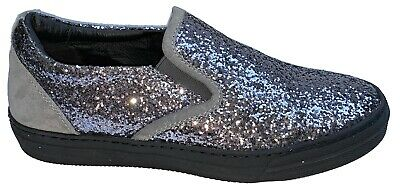 = Joshua Sanders SlipOn Sneakers Trainer Casual Womens Glittery Shoes Made Italy • 19.99£