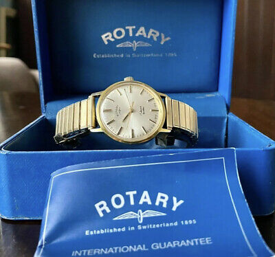 1970s Gold Plated Rotary Dress Watch, AS 1901, Box And Papers, Lovely Movement • 35£