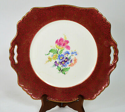 $ CDN32 • Buy Vintage Royal Winton Grimwades Red And 22k Gold Cake Plate