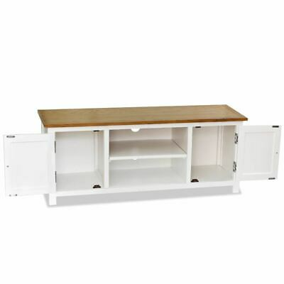 AU209.95 • Buy TV Cabinet 2 Door Storage Unit Lowboard Wooden Furniture Entertainment Stand