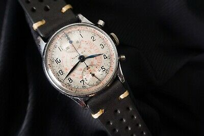 $ CDN561.62 • Buy Vintage Gallet Chronograph Venus 170 Military Officer's Wrist Watch