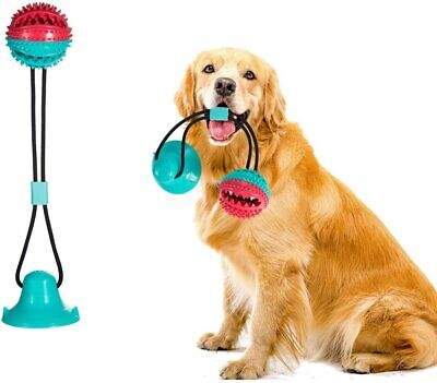 AU17.99 • Buy Interactive Dog Toy Suction Cup Self-Playing Rubber Ball Chew Food Dispensing Te