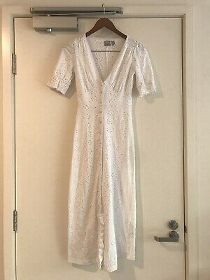 AU20 • Buy Asos White Broderie Dress Size 36