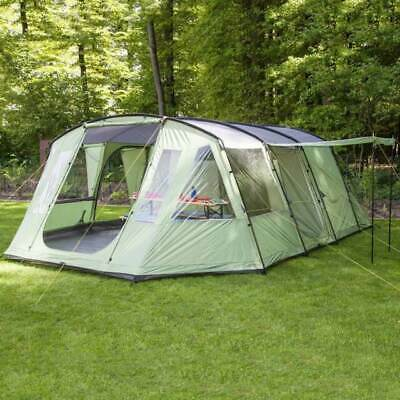 Skandika Nordland 6 Person/Man Family Tent Sewn-in Floor Camping Beige Brown New • 150£