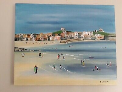 Original Acrylic Painting, St Ives Cornwall 50x 40 Cms.  • 30£