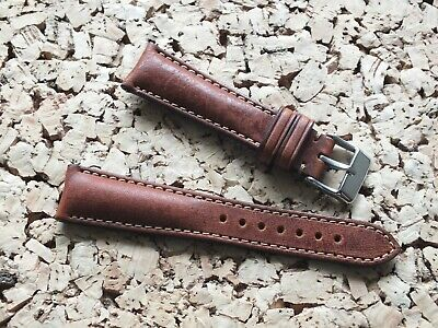 Genuine Leather Quick Release Padded Watch Strap 20mm Nut Brown By Geckota • 9.50£