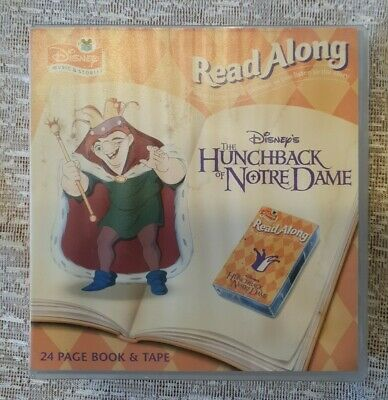 Disney Read Along The Hunchback Of Notre Dame 24 Page Book & Cassette Tape. • 8.99£