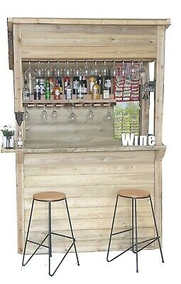 £649 • Buy Garden Bar Fully Tanalised Shiplap And Treated Wood, Felted Roof