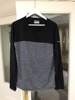 Berghaus Argentium Ladies Long Sleeve Grey And Black Base Layer Top Size 18 • 3.76£