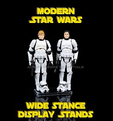 £5.49 • Buy Star Wars Display Stands Wide Stance X10 For Modern Star Wars Action Figures