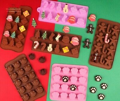 £2.65 • Buy Christmas Chocolate Silicone Cake Mould  Santa Candy Cane Jelly Ice Cube Mold