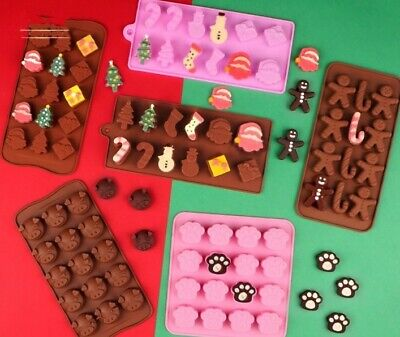 £3.99 • Buy Silicone Cake Mould Christmas Chocolate Santa Candy Cane Jelly Ice Cube Mold