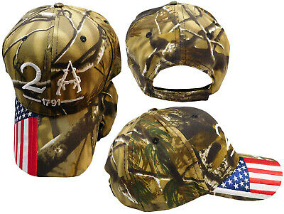 $ CDN18.43 • Buy 2A 2nd Amendment 1791 USA Flag On Bill Embroidered Camouflage Camo Cap Hat