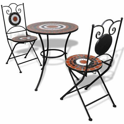 AU219.95 • Buy Mosaic Outdoor Bistro Set Garden Table And Chairs Patio Balcony Furniture 3pcs