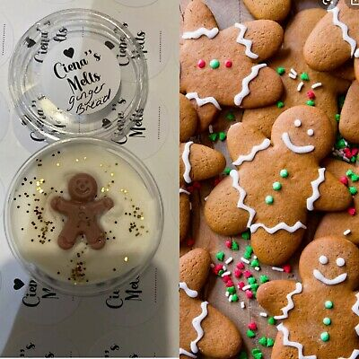 HIGHLY SCENTED  WAX MELTS XMAS SCENTS -gingerbread • 1.99£