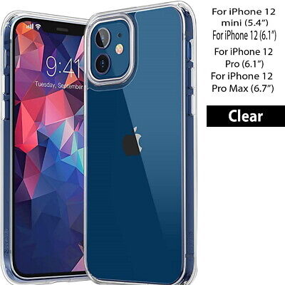 AU5.99 • Buy For IPhone 12/MINI/ PRO/PRO MAX Soft Silicone Crystal Clear Back Case Cover