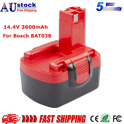 AU29.99 • Buy 14.4V 3.6AH Ni-MH Battery For Bosch 2607335465 2607335276 BAT038 BAT041 BAT040