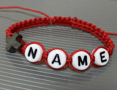 £5.90 • Buy Personalised Baby Red Bracelet Protection  With Name & Cross Hematite Stone