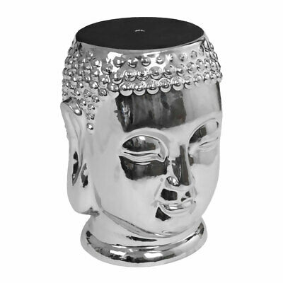 £106.99 • Buy Premier Ceramic Silver Buddha Stool Home Chair Decorative Furniture Side Table
