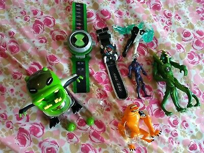 Selection Of Ben 10 Figures And Two Ben 10 Omnitrix Toy Watches • 5£