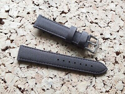 Canvas On Leather Watch Strap 20mm // Brown By Geckota • 3.99£