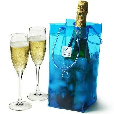 Tote Wine Cooler Ice Bag - Blue - New - Pack Of Two • 5.95£