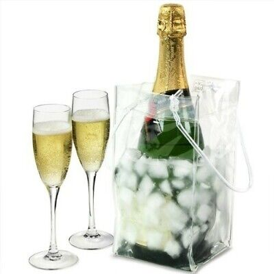 Tote Wine Cooler Ice Bag - Clear - New - Pack Of Two • 5.95£