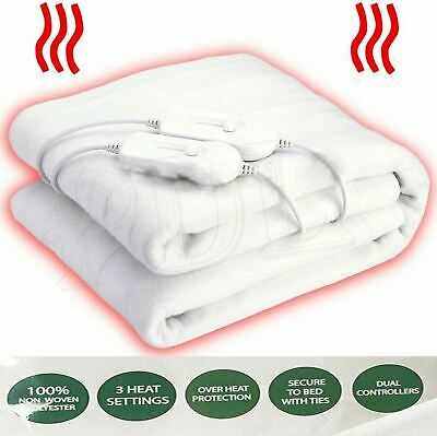 £24.95 • Buy KING SIZE ELECTRIC DUAL CONTROLLER HEATED COSY UNDER BLANKET 150X160cm THERMAL