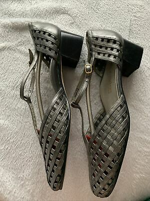 Alexandria Italian Low Heel Shoes Size 8 / 42 Pewter Grey Great For Dancing • 3.95£