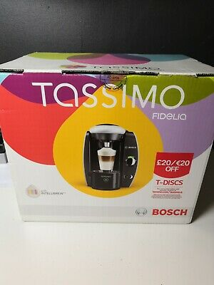 View Details Bosch TAS4011GB Tassimo Automatic Hot Drinks Coffee Machine In Silver And Black • 19.99£