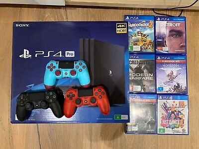 AU500 • Buy New Ps4 Pro 1tb   2 Controller And 4 Games