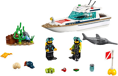 AU15 • Buy LEGO City Diving Yacht - 60221 - Preloved In Perfect Condition