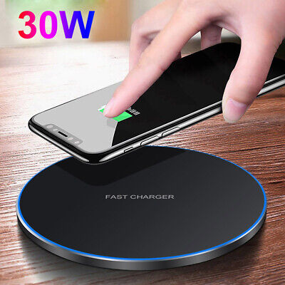 $ CDN8.49 • Buy 30W Qi Wireless Charger Fast Charging Pad Mat For IPhone 12 12Pro 11 11Pro XS 8