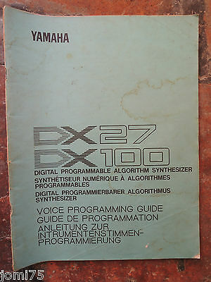 AU20.97 • Buy Original Yamaha 80' DX100 Dx 27 Voice Programming Guide UK English From Fr