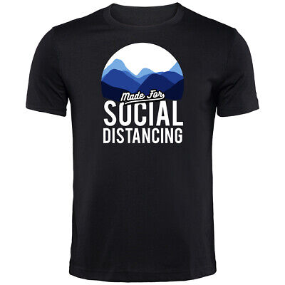 Made For Social Distancing Corona T-Shirt | Funny Printed Clothing Secret Santa • 9.99£