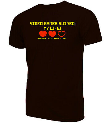 Video Games Ruined My Life Gamer T-Shirt | Novelty Funny Clothing Secret Santa • 9.99£