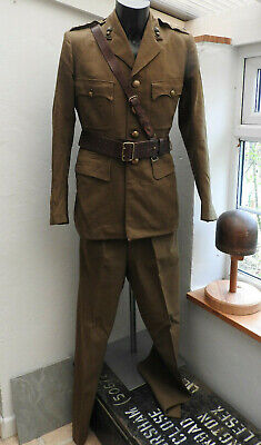 Military WW2 Royal Engineers Complete Tunic Sam Brown Officers Uniform (5481) • 199.99£