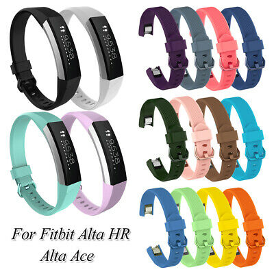 $ CDN2.48 • Buy Silicone Wrist Strap Watch Band Soft Replacement Bands For Fitbit Alta HR Ace