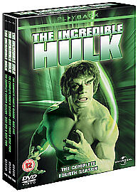 The Incredible Hulk - Series 4 - Complete (DVD, 2008, 6-Disc Set) • 0.50£