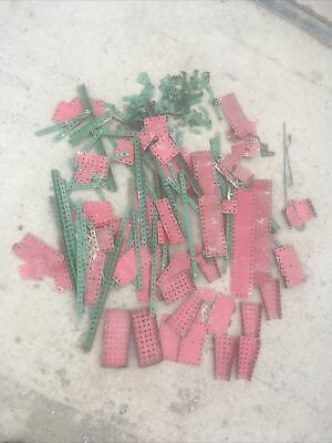 Huge Joblot Of Meccano Strips, Panels, Pulley, 2 Rods • 27£