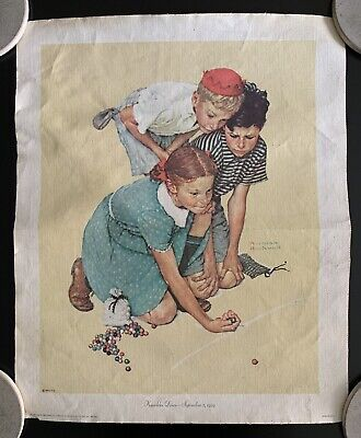 $ CDN26.29 • Buy  Knuckles Down  By Norman Rockwell Lithograph On Canvas (1972)