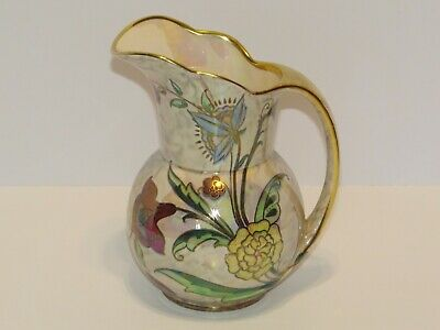 $ CDN145.58 • Buy Vtg Royal Winton Grimwades Large Pitcher England Floral Iridescent Lustreware