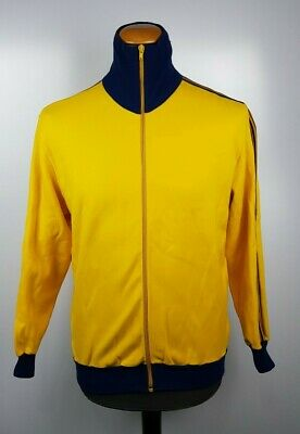 Adidas Look West Germany Beckenbauer Club 70s 80s Yellow Track Top Jacket Sz M • 49.99£
