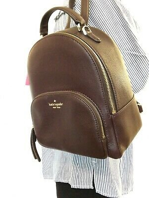 $ CDN141.43 • Buy NWT Kate Spade Jackson Medium Leather Backpack Bag Chocolate Cherry WKRU5946