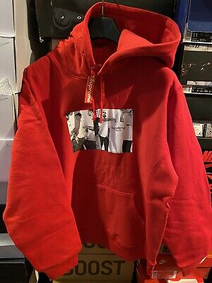 $ CDN196.36 • Buy Supreme Classic Ad Hoodie Sweatshirt Red Size Large