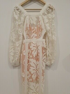AU49 • Buy White Lace Dress By Alice MCcall Sz 4 NEW