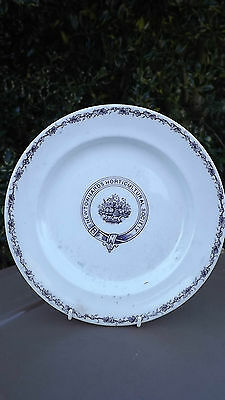 RARE Newtownards Horticultural Society Victorian Plate Possibly Belleek Pottery  • 42£